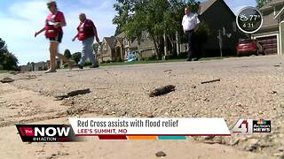 American Red Cross assists in flood relief - Video
