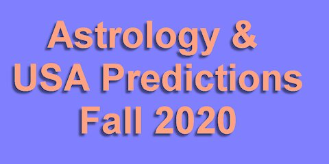 Astrology & Prediction for USA for Sep-Dec 2020