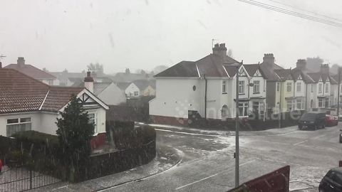 'Mini-Beast from the East' brings hail blizzard to northern England
