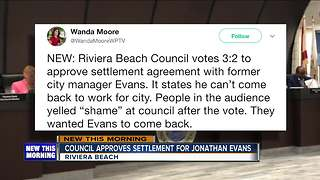 Riviera Beach Council approves settlement with former manager Jonathan Evans - Video