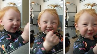 Hilarious moment angry toddler growls after her mum tries to give her medicine  - Video