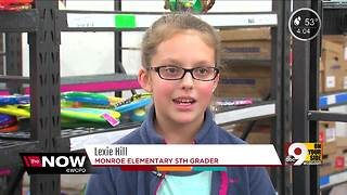 Monroe Elementary students donate books to Lighthouse Youth Services - Video