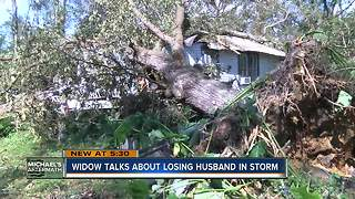 Widow talks about losing husband in storm