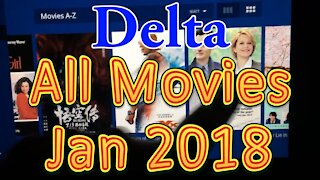 Delta Airlines In flight Movies (All movies) for January 2018