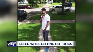 Detroit man shot and killed while letting dogs outside his home - Video