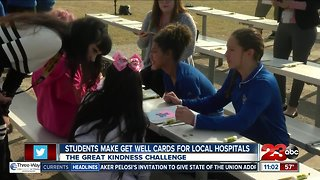 """Hort Elementary School students create """"Get Well Cards"""""""