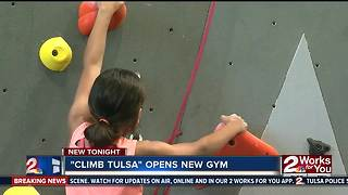 Climb Tulsa opens new gym - Video
