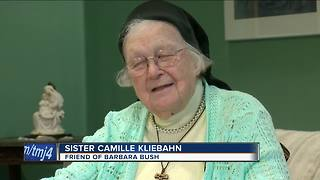 Local Nun Remembering Barbara Bush