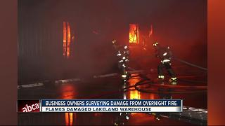 Overnight fire destroys Lakeland business - Video