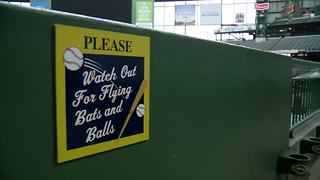 Brewers: fans be aware of dangerous foul ball - Video