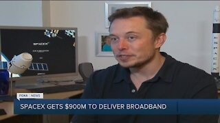 SpaceX gets funding to deliver broadband internet access