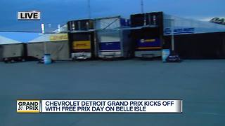 Chevrolet Detroit Grand Prix kicks off with Free Prix Day on Belle Isle - Video