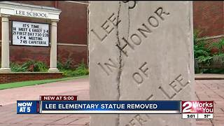Monument removed outside Lee Elementary - Video