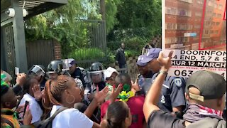SOUTH AFRICA - Johannesburg - Wits Student Protest - Video (GtY)
