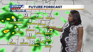 Scattered storms linger Monday night - Video