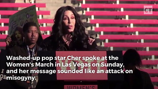 Cher Pushes Feminism, Then Blasts Sarah Huckabee Sanders - Video
