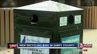 New recycling bins in Sarpy County