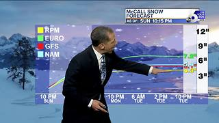 Snow & Slick Roads into Monday Morning - Video
