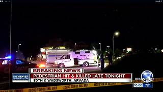 1 dead in auto-pedestrian crash at 80th and Wadsworth in Arvada - Video
