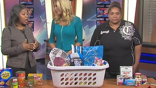 Detroit Lions' wives Partner with COTS to provide bountiful baskets to families in need this Thanksgiving - Video