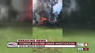 Storage Shed Fire Under Investigation - Video