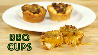 Memorial Day appetizers: Cheesy beef BBQ cups - Video
