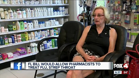 Florida legislative push to allow pharmacists to treat and test patients for flu and strep