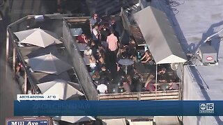 Too busy? Air15 video shows people drinking, hanging out at CASA Tempe