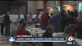 Suit: Indiana Secretary of State's office broke election law - Video