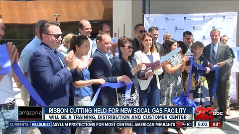 Ribbon cutting for new SoCal Gas facility