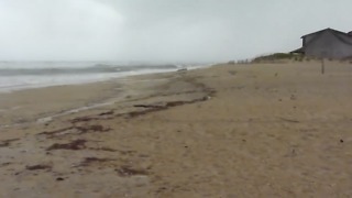 Hurricane Florence Kicks Up Waves on Outer Banks