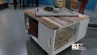 How to make a storage ottoman from wooden crates - Video