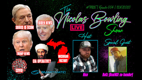 The Nicolas Bowling Show 004 | Soros, Michigan Victory , Election & MORE