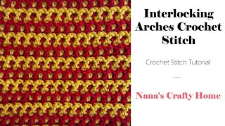 Interlocking Arches Crochet Stitch Tutorial