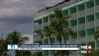 3-year-old found wandering near Fort Myers Beach resort