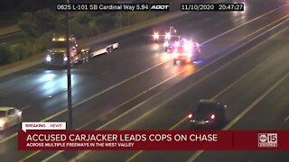 Accused carjacker, robber leads police on chase