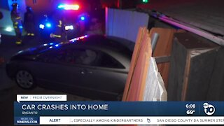 Car crashes into a home in Encanto