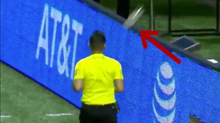 Ref Gets Hit with Bottle During MLS Game - Video