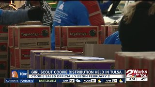 Girl Scout cookie distribution held in Tulsa