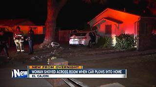 Car with teens inside crashes into El Cajon home