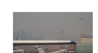 Firefighting Helicopters Use Pacific Union College Airstrip as Base - Video