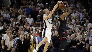 382-Year-Old Manu Ginobli SAVES Game 5 with OT Block from Behind - Video
