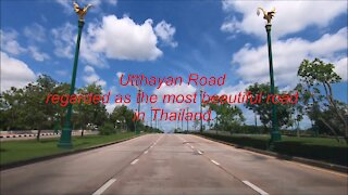 Utthayan Road (Aksa Road) regarded as the most beautiful road in Thailand