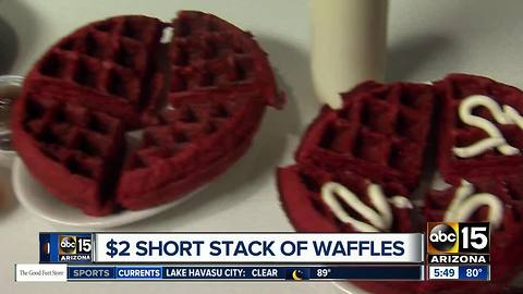 Get waffles around the Valley for a great price!