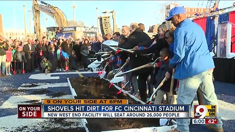 Shovels hit dirt for FC Cincy stadium