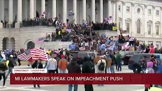 Michigan lawmakers weigh in on move to impeach President Trump ahead of the inauguration