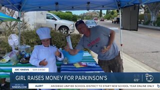 A young girls hosts a bake sale for parkinson's