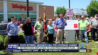 State retirees, delegate frustrated with change to prescription drug coverage - Video