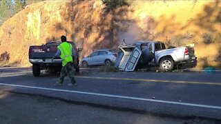 Highway 285 reopens after closing for head-on crash near Pine