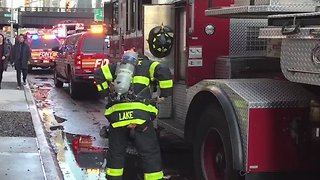 New York City High-Rise Evacuated After Fire Breaks Out - Video